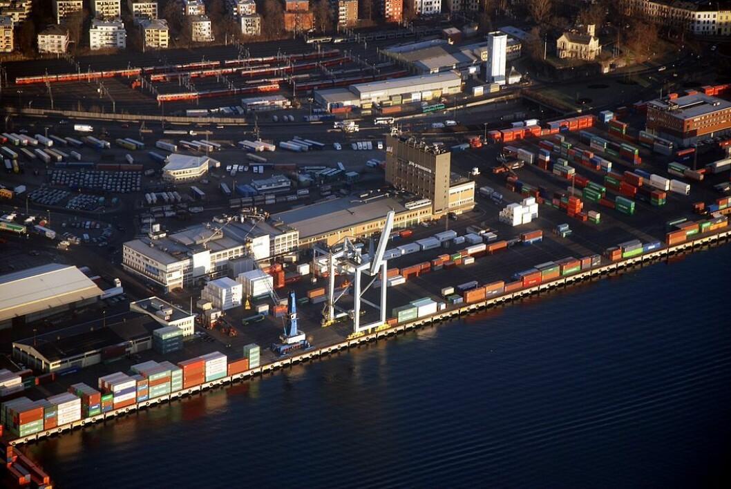 Filipstad kontainerhavn.  Foto: Wilhelm Joys Andersen / Flickr