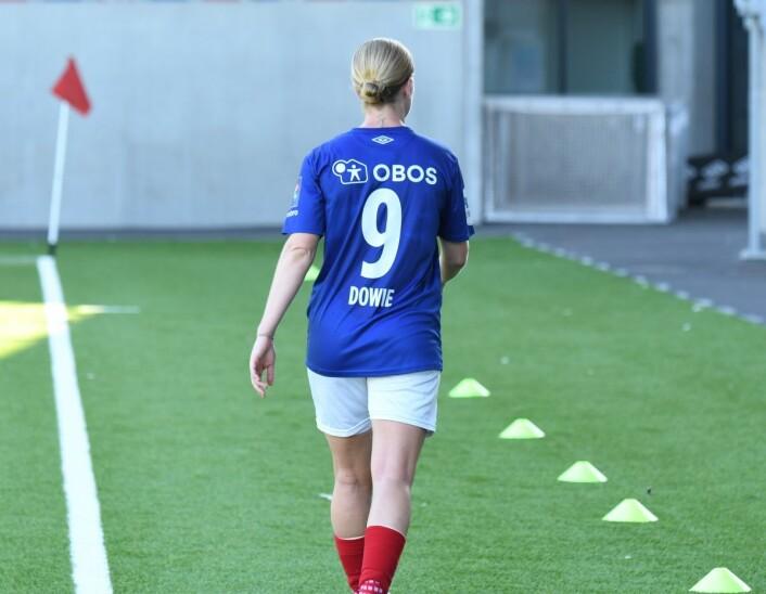 Lørdagens hjemmekamp var den nest siste kampen i norsk kvinnefotball for Natasha Dowie. Men den aller siste på hjemmebane. Etter neste helgs bortekamp mot Stabæk returnerer hun til australsk fotball. Foto: Christian Boger