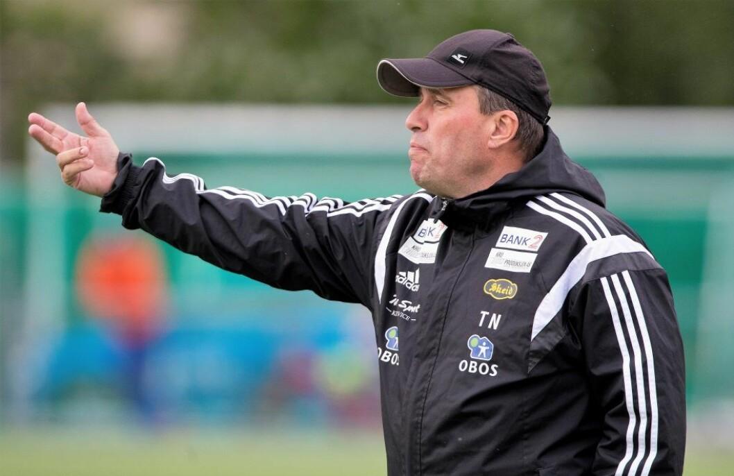 Skeid og trener Tom Nordli har bare Tromsdalen bak seg på tabellen. Om en drøy uke spiller de skjebnekamp mot Strømmen. Arkivoto: Terje Pedersen / NTB scanpix
