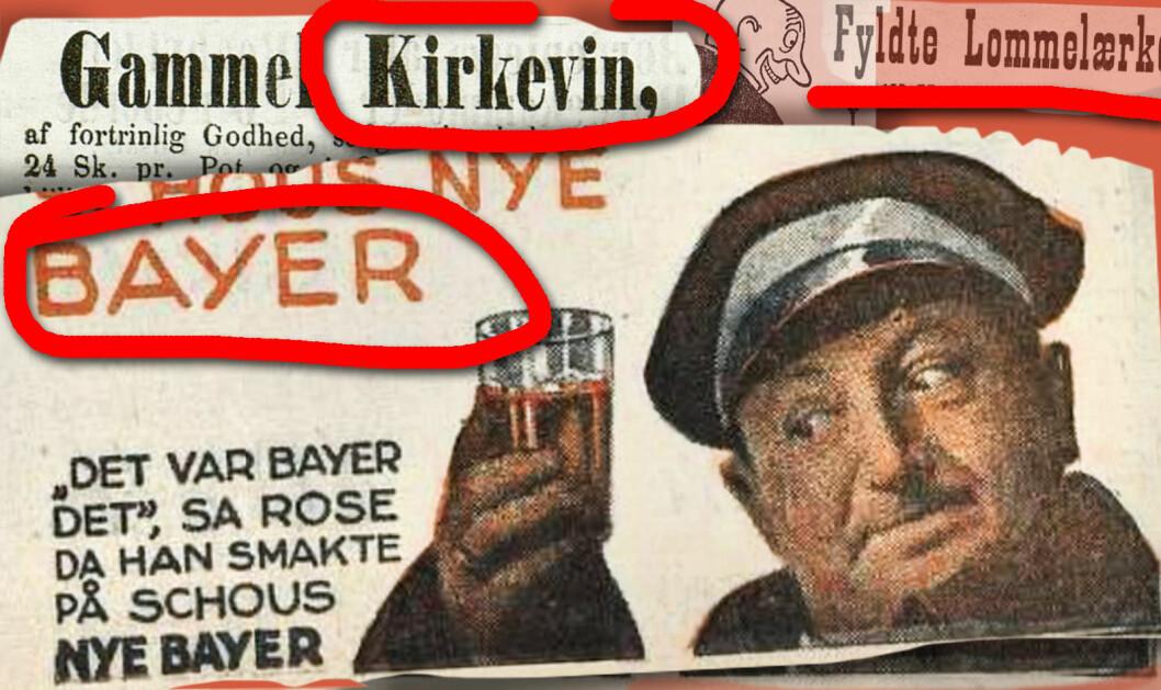 Arbeiderbladet annonserte i 1930 for absinth og bayer.