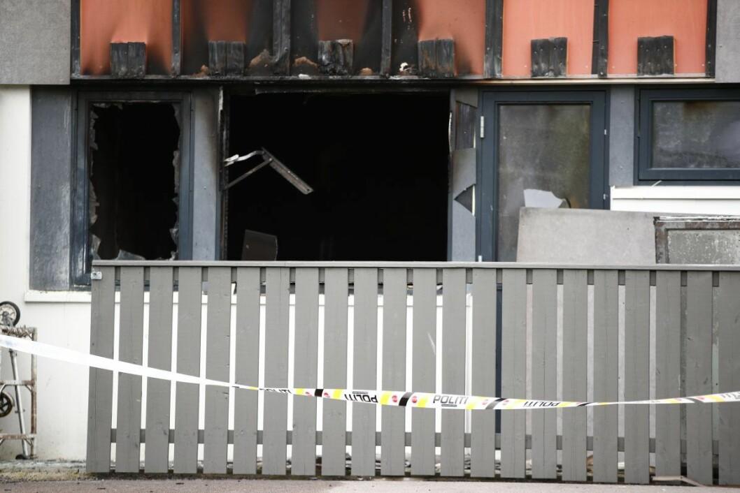En person er bekreftet omkommet etter en brann i en høyblokk på Furuset i Oslo. Foto: Terje Pedersen / NTB scanpix