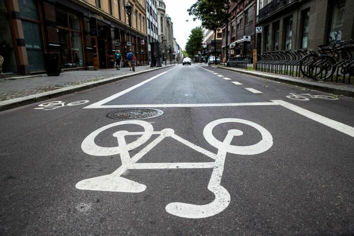— 20 kilometer med ny sykkelvei neste år høres kanskje ikke mye ut, men husk at de borgerlige bygde i snitt bare 1,5 kilometer årlig da vi tok over, sier finansbyråd Robert Steen (Ap). Foto: Berit Roald / NTB scanpix
