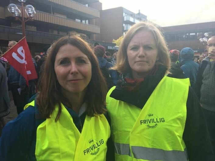 Heidi Marie Kriznik og Kristin Aandal (til h.). Foto: Vegard Velle