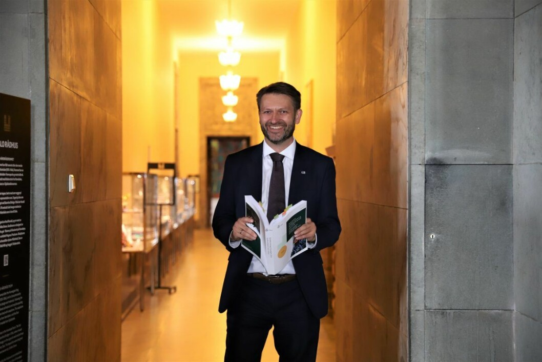 Eirik Lae Solberg (H) bekrefter at han har vært i kontakt med MDG om et mulig byrådssamarbeid i Oslo.  Foto: André Kjernsli