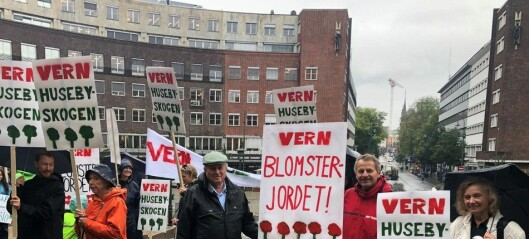 — Blåser det rødgrønne byrådet i jordvernet når det bygges ny vannforsyning på Husebyjordet?