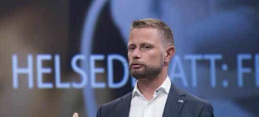 Helseminister Bent Høie overrasket over byrådets kutt til hiv-smittede i Oslo