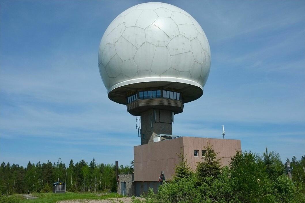 Den savnede kvinnen ble til slutt funnet i nærheten av Haukåsen radar. Foto: Kjetil Ree / Wikimedia Commons