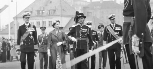 Se dronning Elizabeth besøke Oslo i 1955