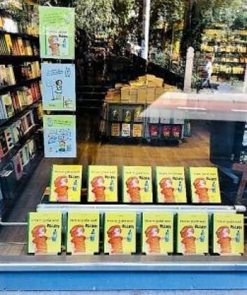 Den største gleden ved å være forfatter, var da bøkene ble stilt ut i vinduene til bokhandlene. Foto: Antonella Durante