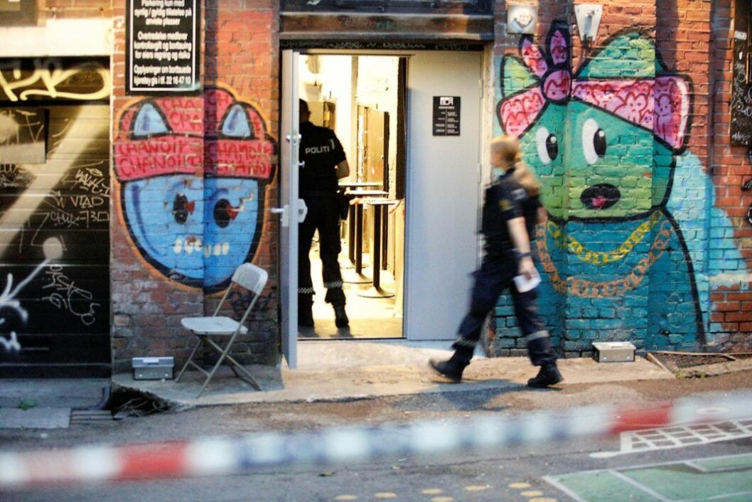 Mannen som skjøt rundt seg på utestedet Blå, er dømt for en rekke alvorlige voldshandlinger tidligere. Foto: Audun Braastad / NTB scanpix