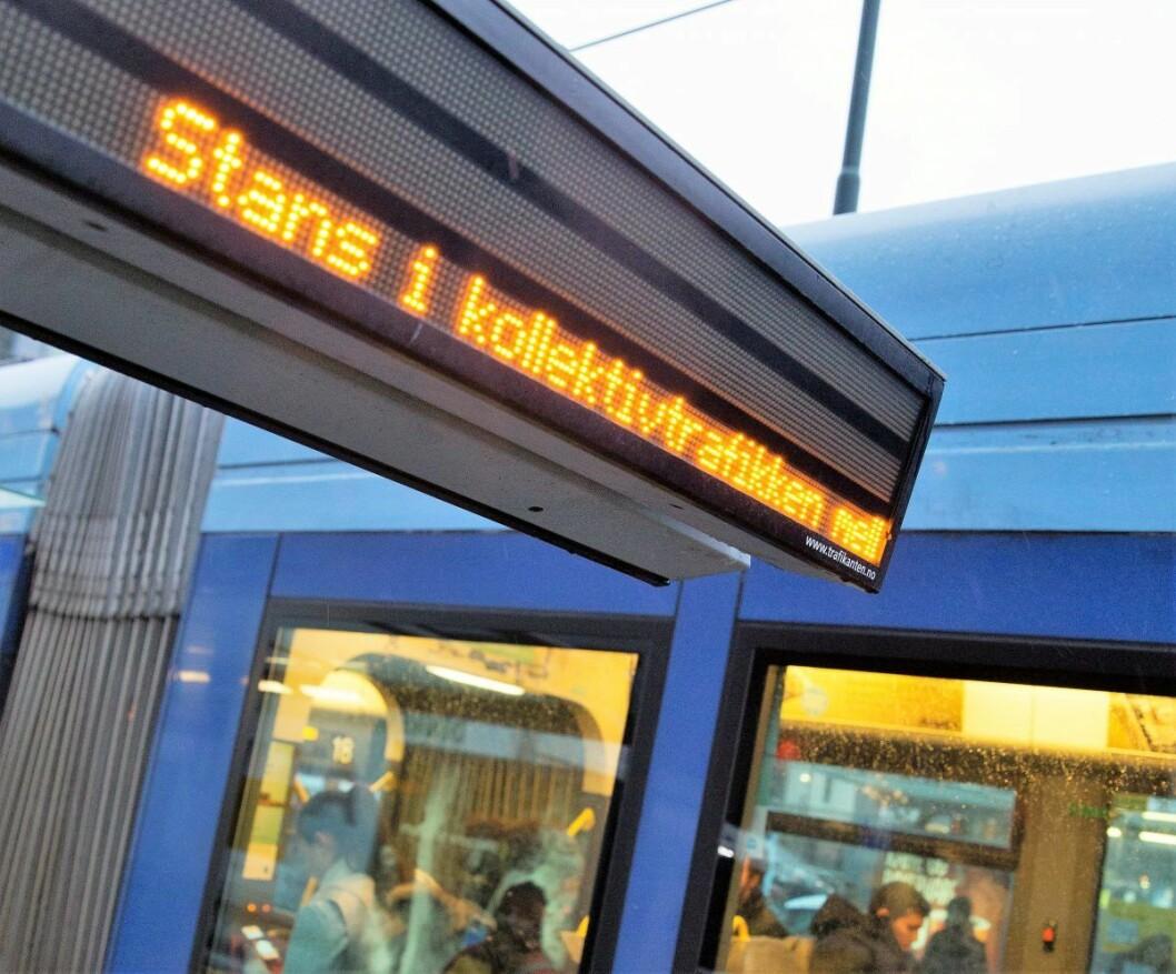 Den politiske streiken rammer all kollektivtransport over hele landet, og er en protest mot innføringen av EUs fjerde jernbanepakke. Arkivfoto: Ole Berg-Rusten/ NTB Scanpix