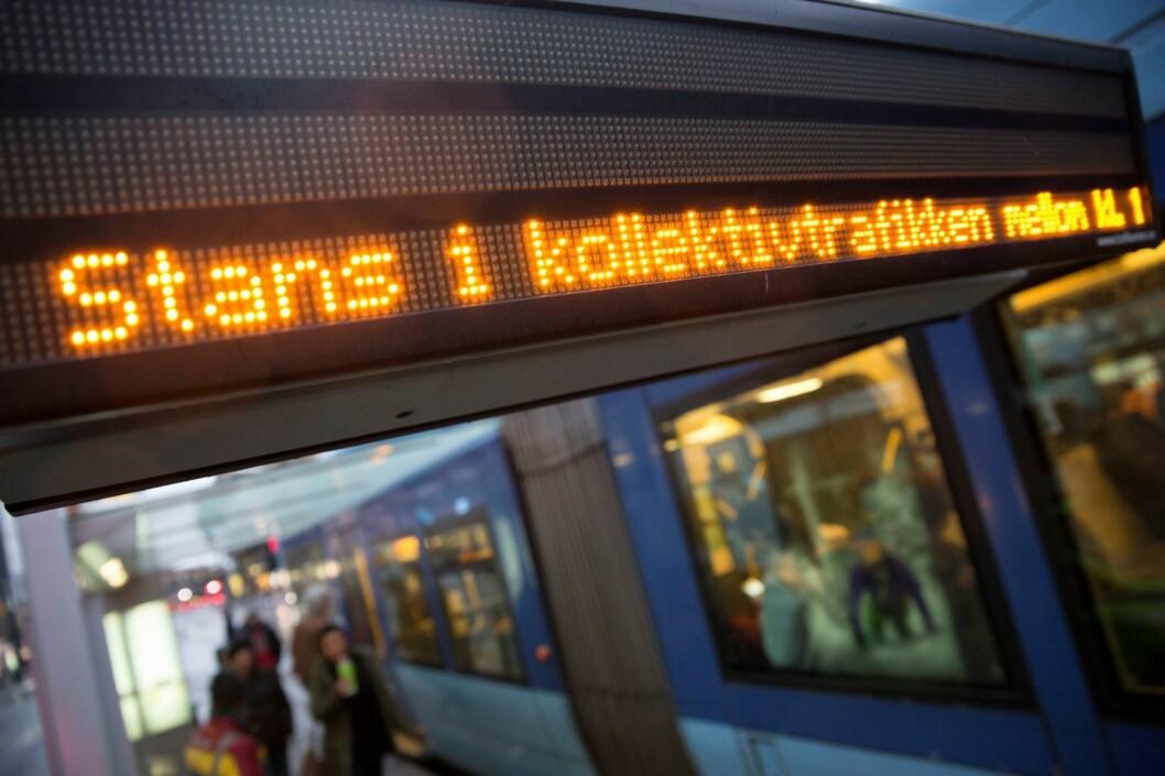 Tog, busser, trikk og T-bane vil stoppe, og det holdes demonstrasjoner i Oslo, Bergen, Trondheim og Stavanger. Foto: Ole Berg-Rusten/ NTB scanpix