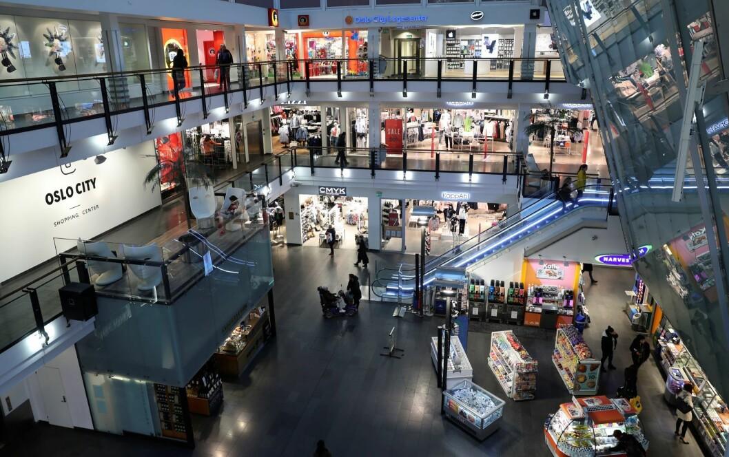 Omsetningen for butikkene i Oslo City falt med 6 prosent i første halvår, sammenlignet med samme periode i fjor. Foto: Vidar Ruud / NTB scanpix