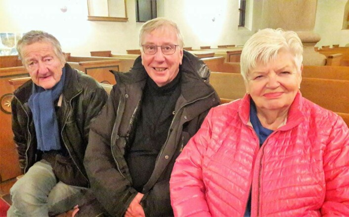 Fra Enerhaugen kom, fra venstre, Sigurd Johansen, Harald Karlsen og Wenche Hansgaard. Det er viktig at de som bor på Enerhaugen får fortelle sin historie, sier de. Foto: Anders Høilund