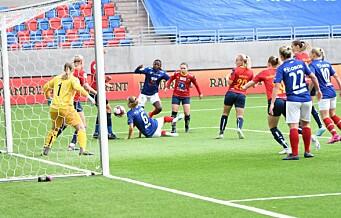 Hollandsk dynamitt ikke nok da Vålerenga-jentene ga bort to poeng i toppstriden