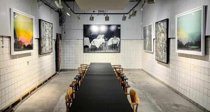 – Kunsten tåler disse lokalene veldig godt, poengterer Helene Gulaker Hansen i den gamle vaskehallen. Foto: Shoot Gallery