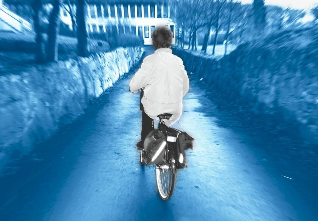 To av syklistene som ble tatt med manglende lys nektet å vedta forelegget. Det betyr trolig at sakene ender i Oslo tingrett. Arkivfoto: Scanpix