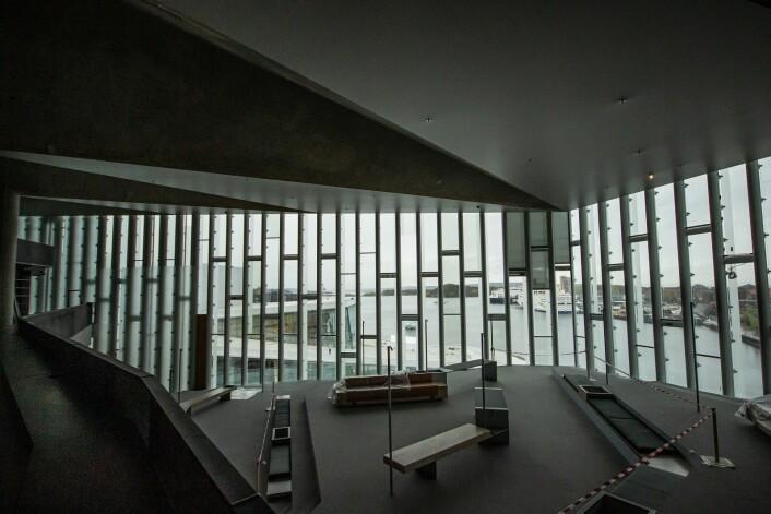 Utsikten mot operaen og Oslofjorden er fantastisk. Foto: André Kjernsli