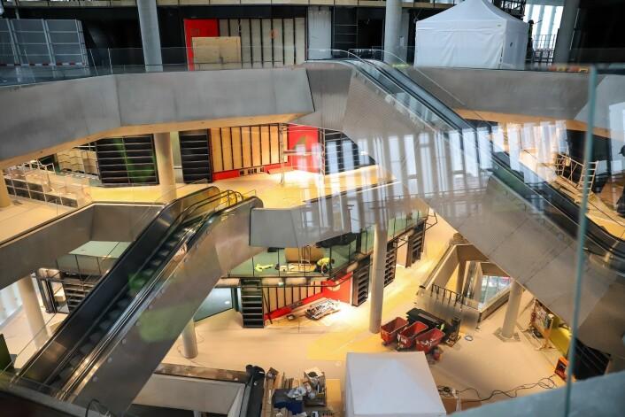 De ulike vinklene preger arkitekturen. Foto: André Kjernsli
