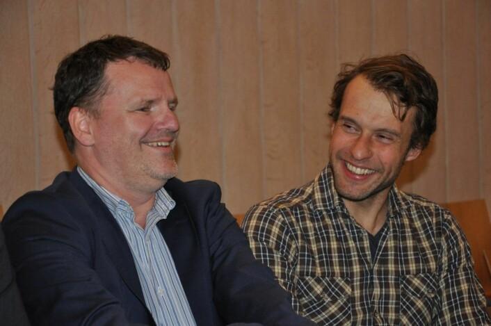 Frognerpolitikerne Jens Jørgen Lie (H) og Adam Tumidajewicz (MDG) har god samarbeidstone. Foto: Arnsten Linstad