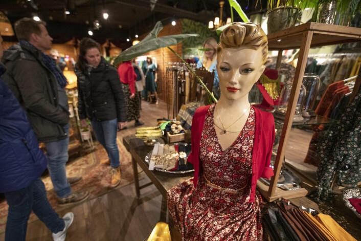 Vintagebutikken i Markveien er populær. Foto: Olav Helland