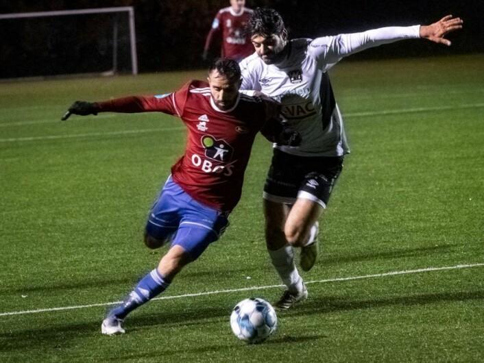 Mustafa Hassan Ahmad lagde kampens fineste mål da han skrudde ballen i krysset etter 54 min. Foto: Bjørnar Morønning