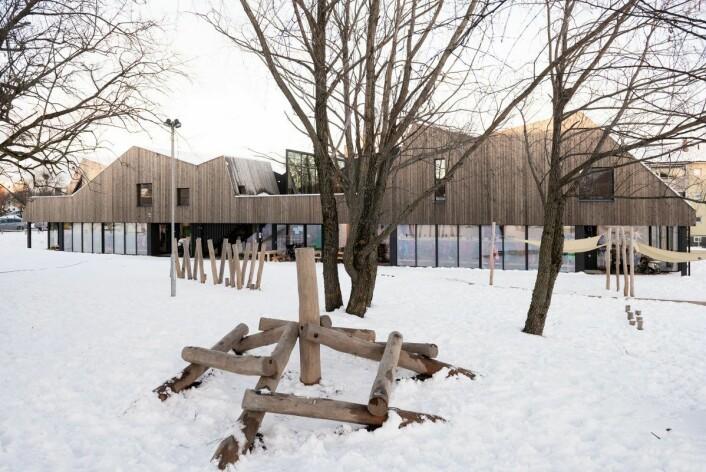 Nordtvet gård barnehage er blitt lekent og godt tilpasset lokalområdet, mener juryen. Foto: Finn Ståle Felberg