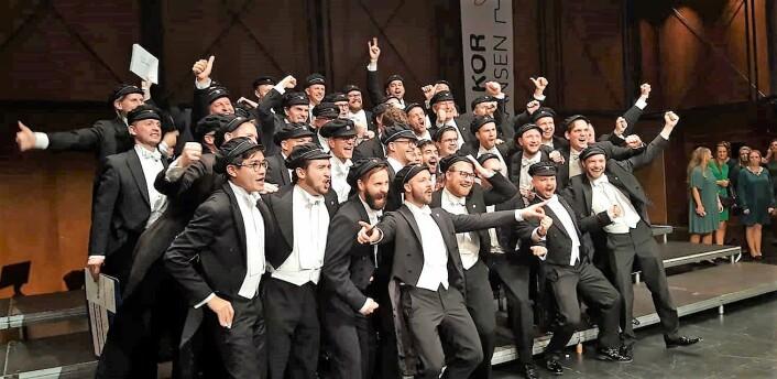 Jubelscener fra NM i kor. Foto: Lill Thommesen