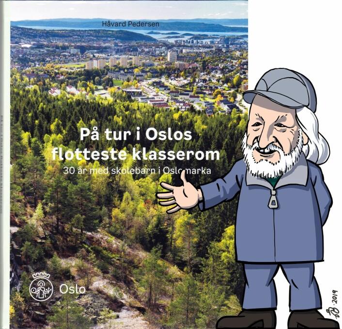 Bokomslag med Håvard Pedersen. Tegning av Åsmund Berge.