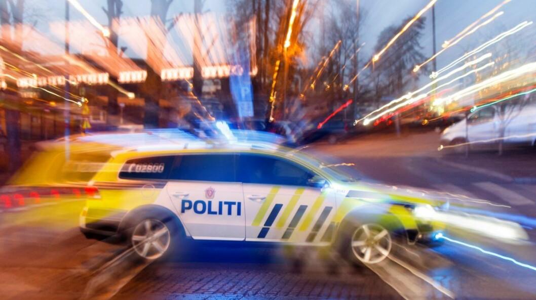 � Da vi ankom, så politiet mannen gå ut av drosjen samtidig som han viftet med kniv mot drosjesjåføren, sier politiets operasjonsleder Tor Jøkling. Foto: Heiko Junge / NTB scanpix