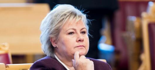 Erna Solberg: - Oslo-regionen er overrepresentert i offentlige utvalg og styrer
