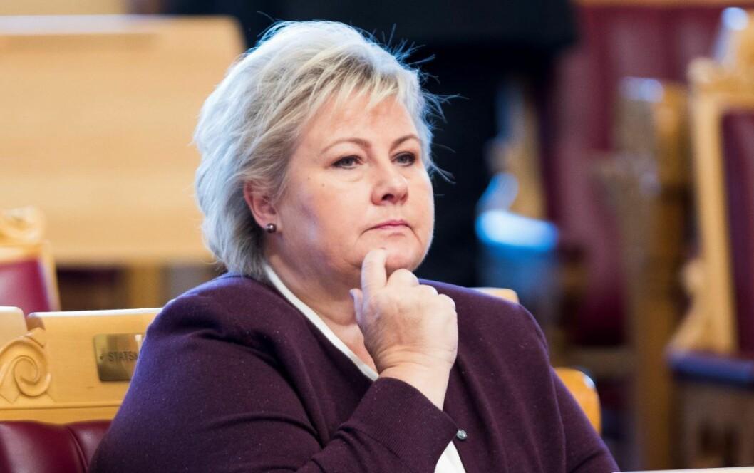 � Regjeringen må bli flinkere til å hente faglig ekspertise fra miljøer utenfor hovedstadsregionen, sier statsminister Erna Solberg (H). Foto: Terje Pedersen / NTB scanpix