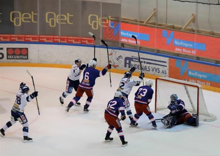 Sparta utlignet i spill fem mot tre. Foto: André Kjernsli