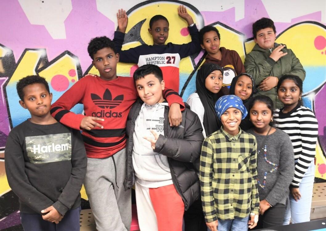 Barna ved juniorklubben ved Vahl skole er bekymret for at klubben legges ned fra nyttår. � Hva har vi gjort for å fortjene dette, spør de. Foto: Christian Boger