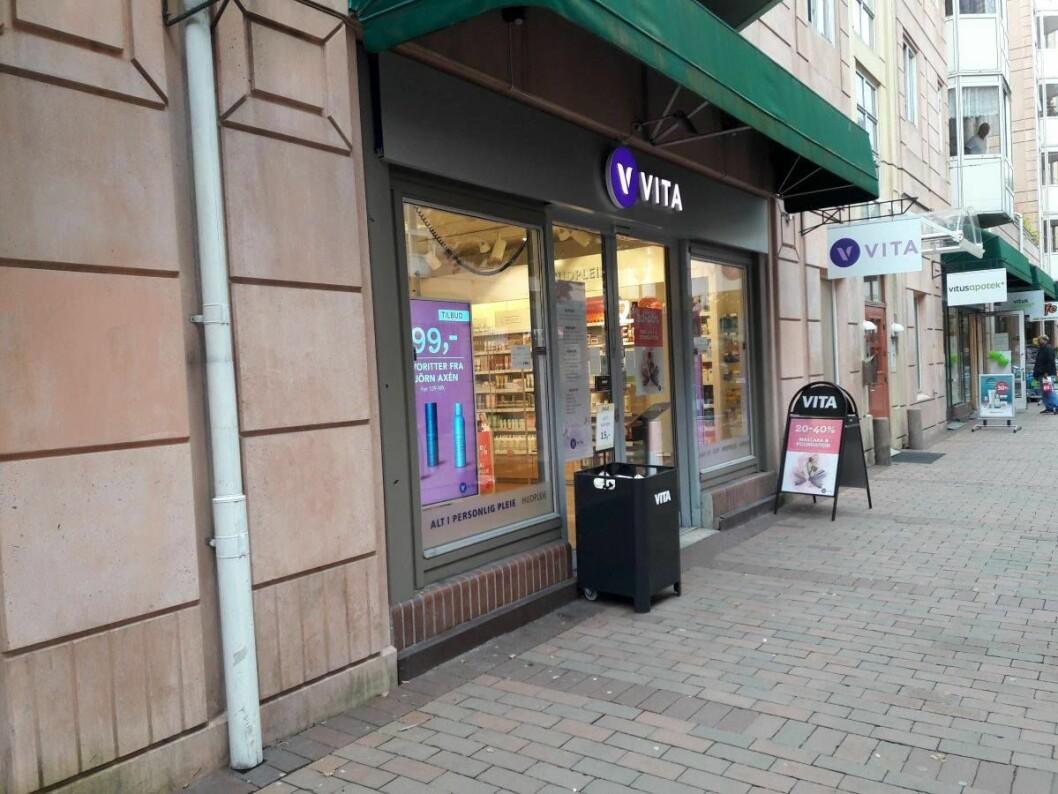 Vita-butikken i Smalgangen på Grønland kan bli lagt ned. Foto: Anders Høilund