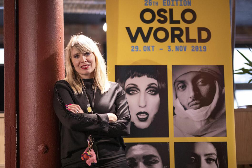 Alexandra Archetti Stølen leder den 26. versjonen av Oslo World. I år med flere kvinnelige artister enn noensinne. Foto: Olav Helland