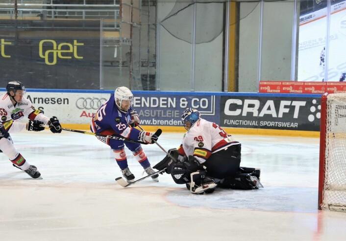 Colin Spaberg Olsen med en bra mulighet. Foto: André Kjernsli