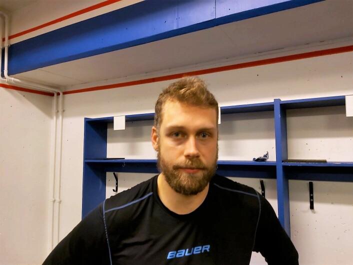 Kalle Ekelund var kampens beste spiller i dag. Foto: André Kjernsli