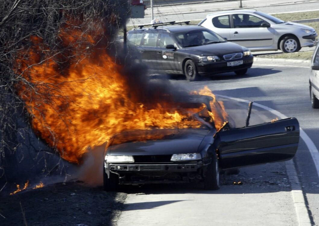 En brann sto i full fyr ved barcode. Busser kom ikke forbi. Illustrasjonsfoto: Morten Holm / Scanpix