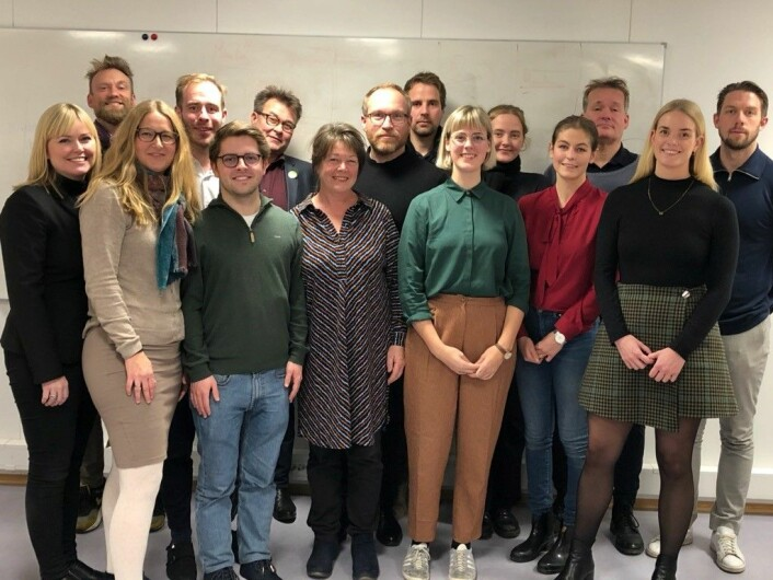 St. Hanshaugens nye bydelsutvalg samlet på ett brett. Disse politikerne skal styre bydelen i fire år. Foto: Bydel St.Hanshaugen