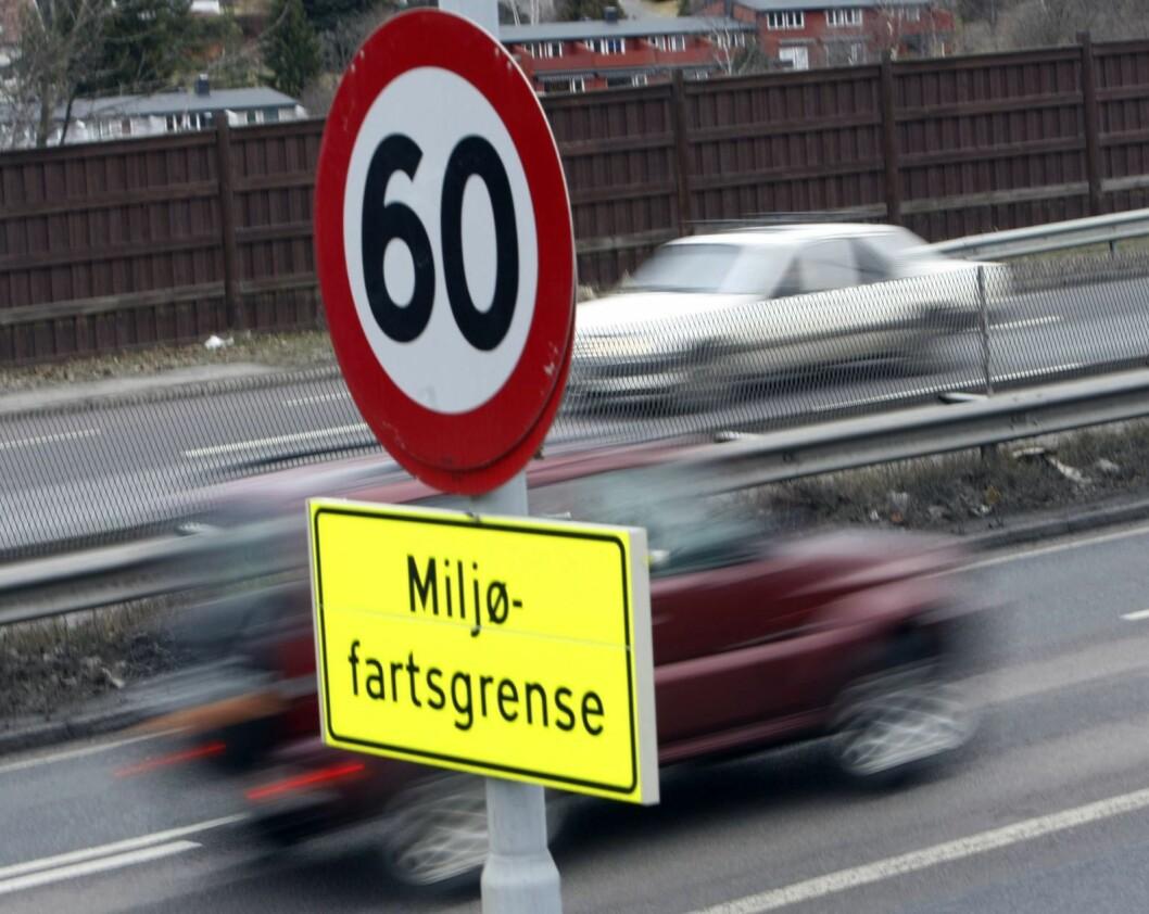 Sammenhengen mellom hastighet og omfanget av skadelig svevestøv er påvist. Foto: Morten Holm / Scanpix