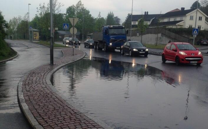 Overvann i byen. Foto: Isabel Seifert-Dähnn