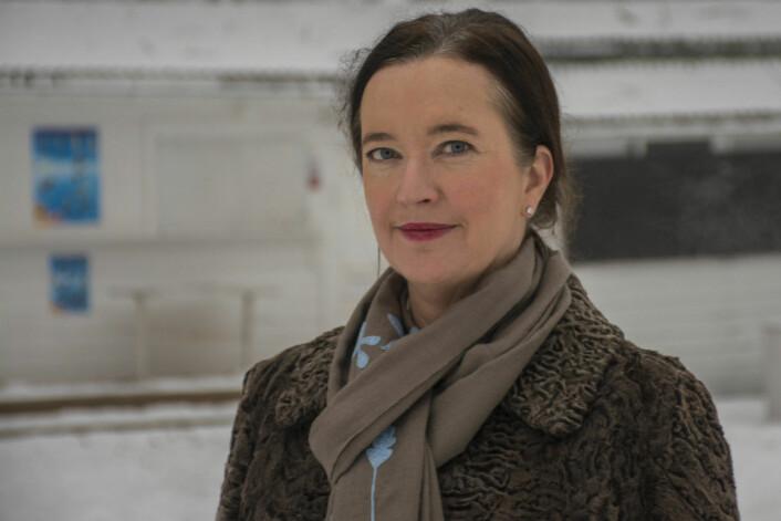 Bydelutvalgets leder, Anne Christine Kroepelien, er engasjert i uteserveringen på St. Hanshaugen og vil gjerne se at den blir helårlig. Foto: Morten Lauveng Jørgensen