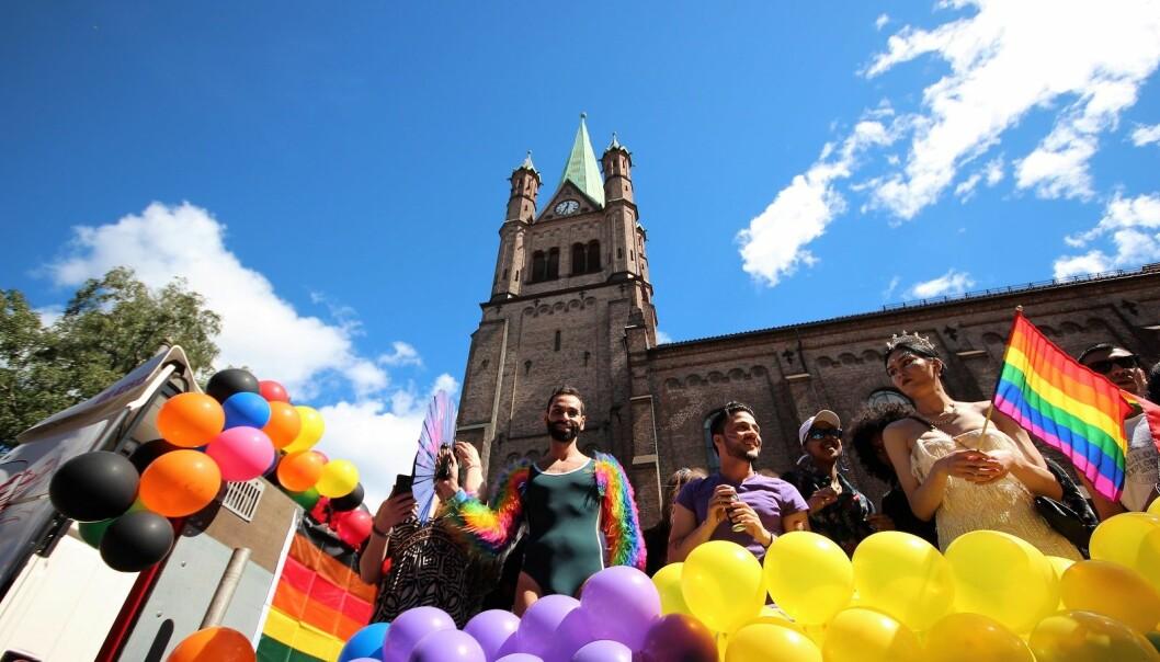 Før årets Pride møttes mange og spiste frokost i Grønland kirke. Kirken er en av flere på listen til Skeivt Kristent Nettverk over trygge kirker for skeive i Oslo.