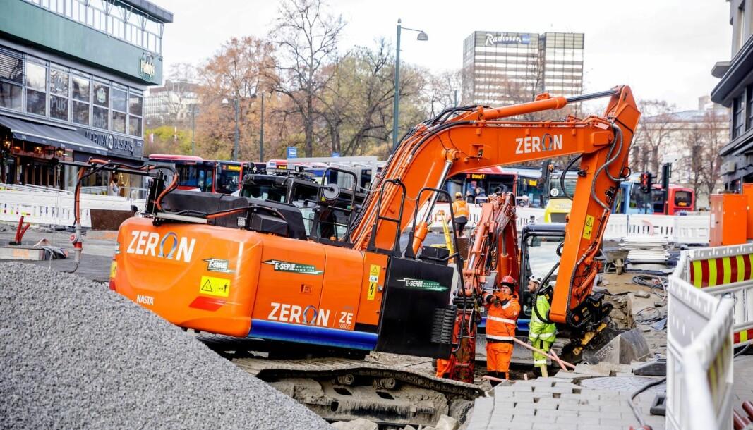 Anleggsmaskinene Oslo kommune bruker skal fremover være utslippsfrie.