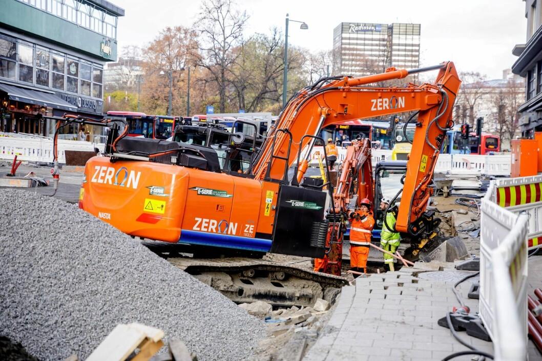 Anleggsmaskinene Oslo kommune bruker skal fremover være utslippsfrie. Foto: Alexander Eriksson / ZERO