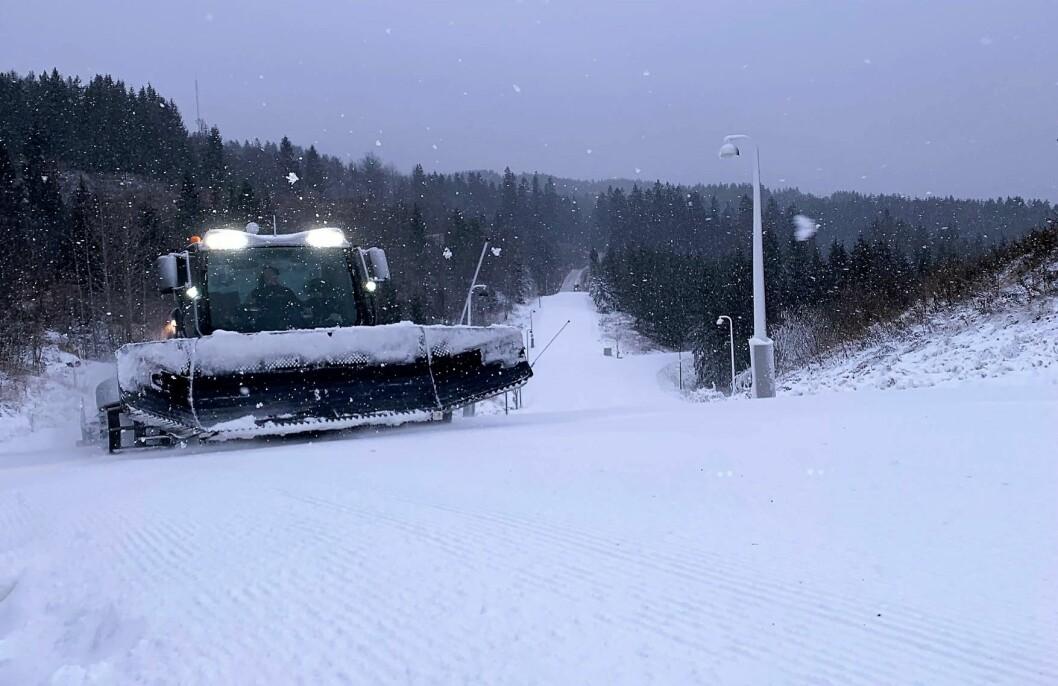 Oslo kommune har preparert skiløypa for langrennsfolket. Foto: Henrik Unhjem-Teigenes