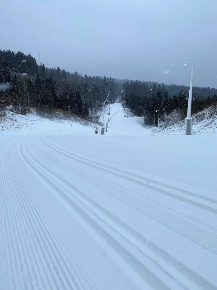 750 meter skiløype ligger nå åpen i Holmenkollen. Foto: Henrik Unhjem-Teigenes