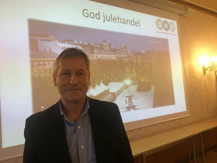 Handelsdirektør Bjørn Næss ser optimistisk frem mot tida frem til jul. Foto: Vegard Velle