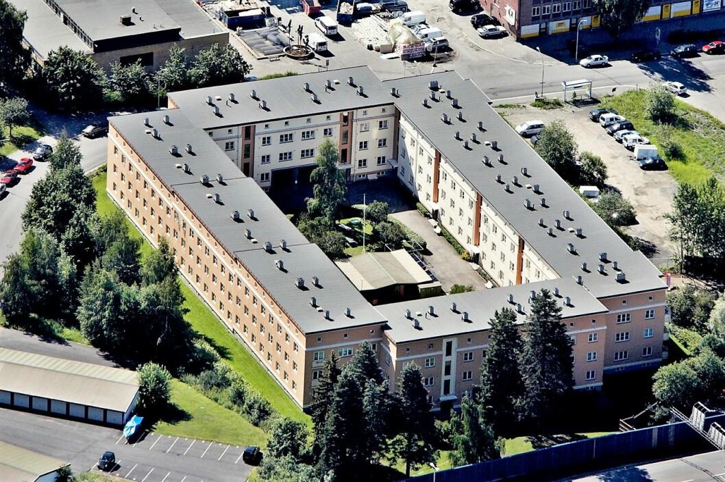 I 1931 åpnet OBOS sitt første borettslag. Etterstadslottet hadde 101 leiligheter. Arkitekt var Jacob Christie. Foto: Obos